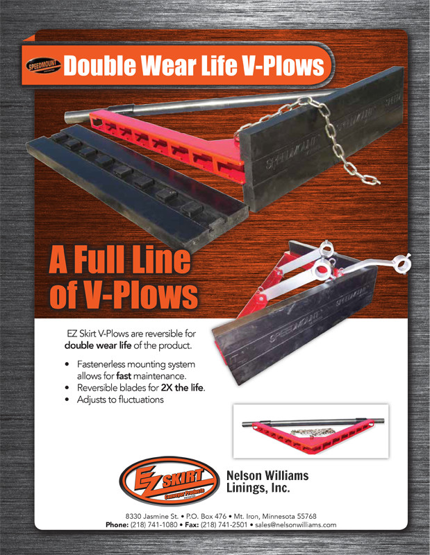 EZ Skirt-Double Wear Life V-Plow-Dist